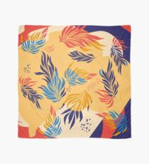 Primary Color  Leaves Scarf
