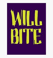 Will Bite Photographic Print