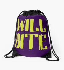 Will Bite Drawstring Bag