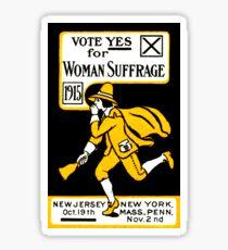 1915 Vote Yes on Womans Suffrage Sticker