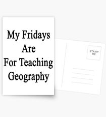 My Fridays Are For Teaching Geography  Postcards