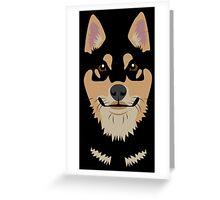 Black and Tan Shiba Inu Greeting Card