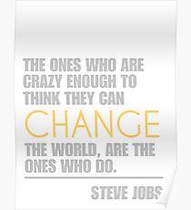 Change the world - Steve Jobs Poster