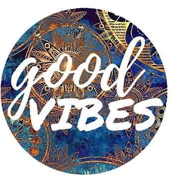 Etiqueta engomada del círculo de Good Vibes de annmariestowe