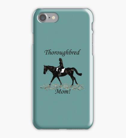 Cute Thoroughbred Mom Horse Design iPhone Case/Skin