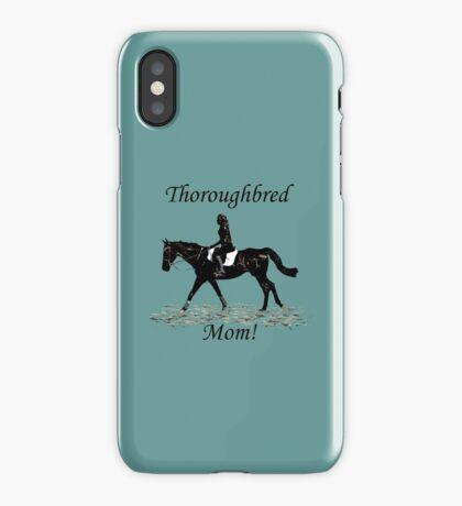 Cute Thoroughbred Mom Horse Design iPhone Case