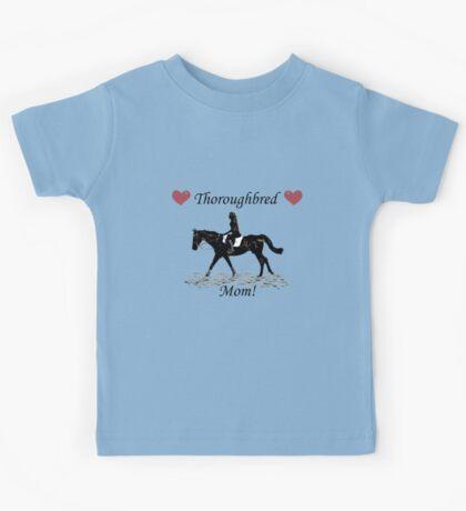 Cute Thoroughbred Mom Horse Design Kids Clothes