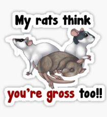 My Rats think you're gross Sticker