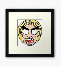 angry zombie hillary Framed Print