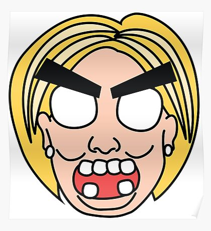 angry zombie hillary Poster