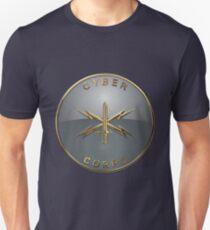 9955e7c70adbc U.S. Army Cyber Corps - Branch Insignia Blue Velvet Unisex T-Shirt