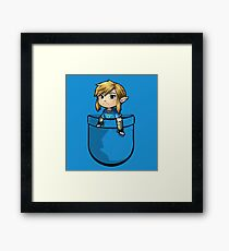 Pocket Link BOTW Zelda Framed Print