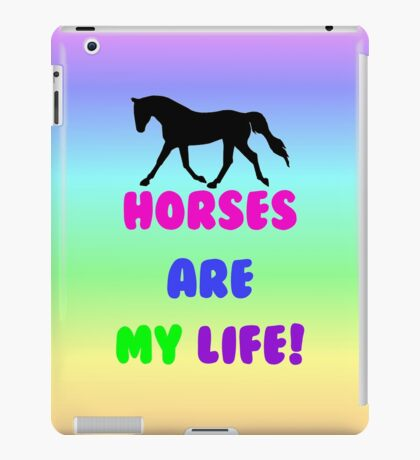 Colorful Horses Are My Life  iPad Case/Skin