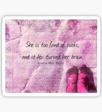 LITERARY BOOK QUOTE Louisa May Alcott  Sticker