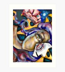 The Falling Woman  Art Print