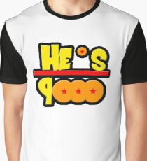 He's over 9000 Math equation Graphic T-Shirt