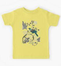 Flowers & Tui - Grey Kids Tee