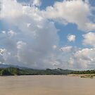 Ferry on the Chindwin 1 by Werner Padarin