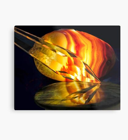 Fire in the Stones Metal Print