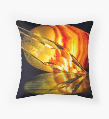 Fire in the Stones Throw Pillow
