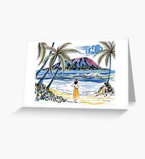 Hawaiian Holiday Greeting Card