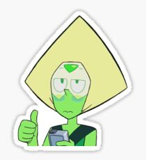 thumbs up peri Sticker