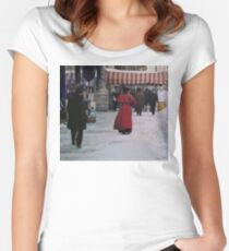 Woman in red Women's Fitted Scoop T-Shirt