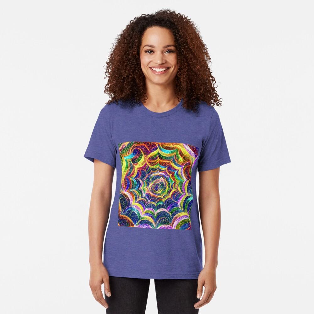 Spider web #DeepDream B Tri-blend T-Shirt