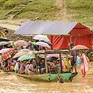 Ferry on the Chindwin 4 by Werner Padarin