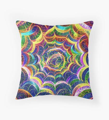 Spider web #DeepDream B Throw Pillow
