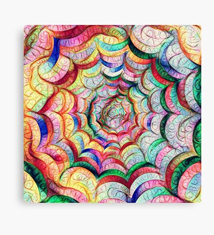 Spider web #DeepDream C Canvas Print