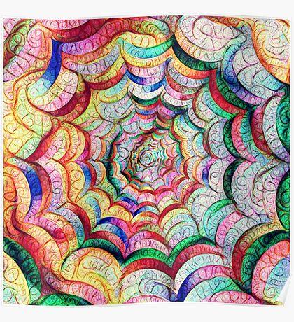 Spider web #DeepDream C Poster