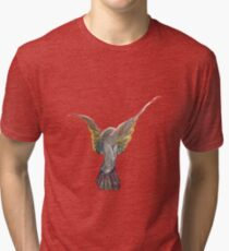 Rainbow Emerson, Lake & Palmer Dove Tri-blend T-Shirt