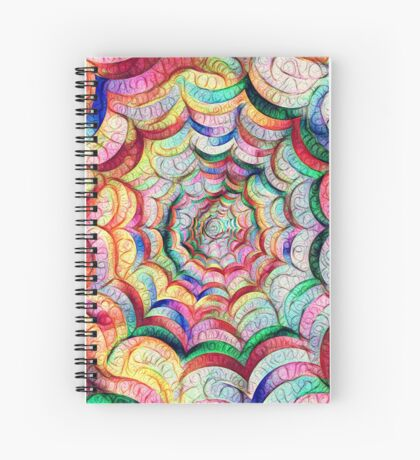 Spider web #DeepDream C Spiral Notebook