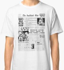 Historic Moon Landing Newspaper Headlines Classic T-Shirt