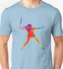 Woman tennis player 01 in watercolor T-Shirt