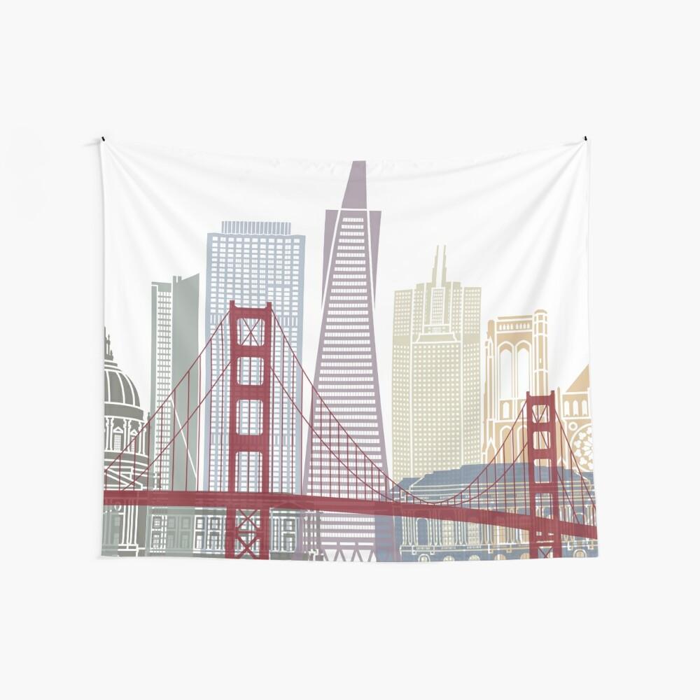 Cartel del horizonte de San Francisco Tela decorativa