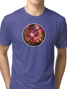 Firey Galaxy Bubble Tri-blend T-Shirt