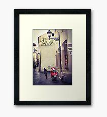 Red motorbike in Sorrento Framed Print