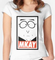 MKAY Women's Fitted Scoop T-Shirt