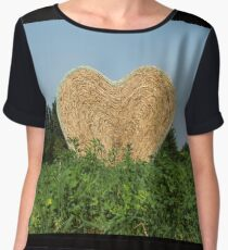 heart hay in the countryside Chiffon Top