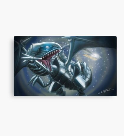 Emerging Blue-eyes White Dragon Canvas Print