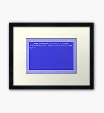 C64 Start Up Screen Framed Print