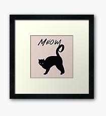 Meow Framed Print