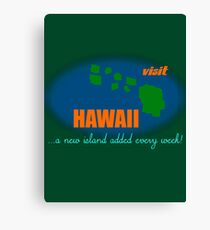 Visit Hawaii Canvas Print