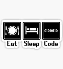 Eat Sleep Code Sticker