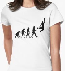 Evolution of Basketball Womens Fitted T-Shirt