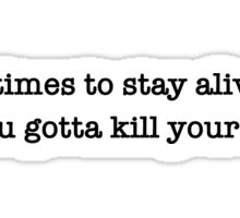 Twenty One Pilots Migraine Lyrics Sticker