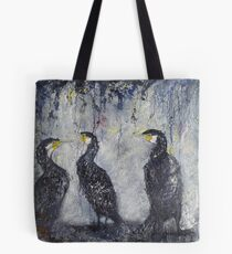 Three's a Crowd, Cormorants Scape Tote Bag