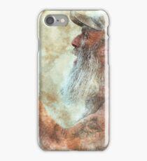 Old Man in Cap iPhone Case/Skin